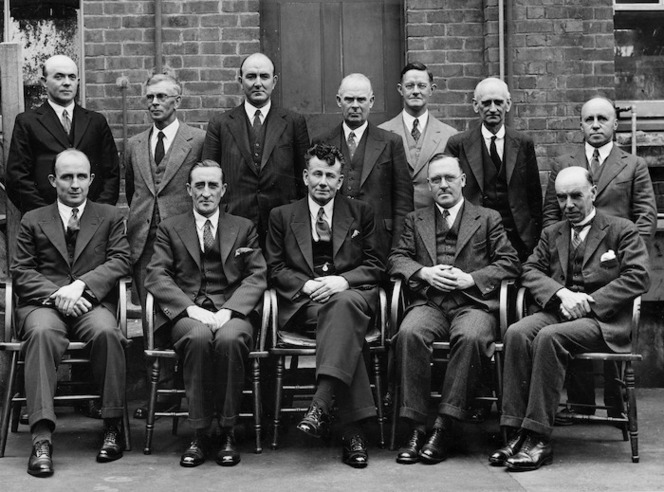 New Zealand Department of Scientific and Industrial Research :Photograph of New Zealand Research Council, 1936