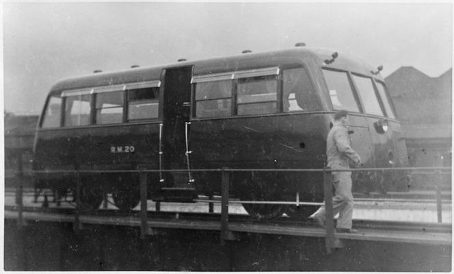 View of rail motor No 20 (R.M. 20), 1936