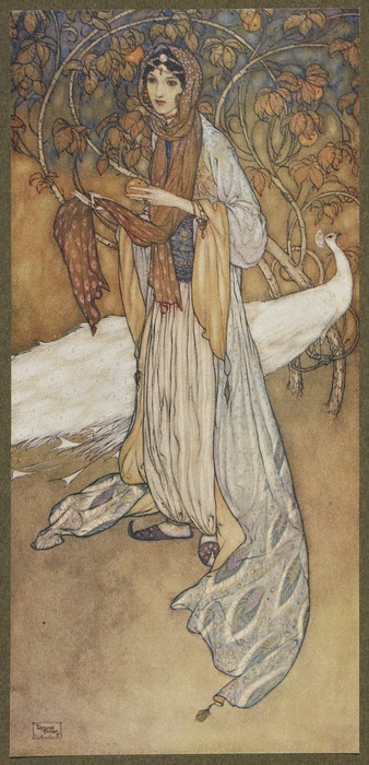 Stories from the Arabian nights / retold by Laurence Housman ; with drawings by Edmund Dulac.