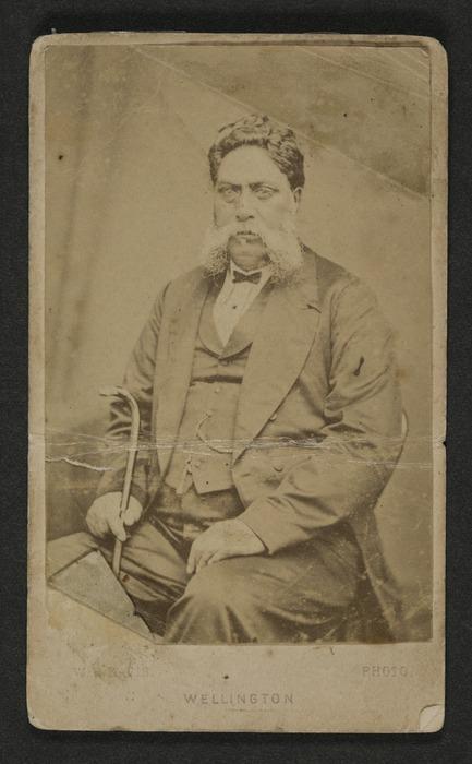 Davis, W H (Wellington) fl 1873-1875 :Portrait of Tamihana Te Rauparaha 1819-1876