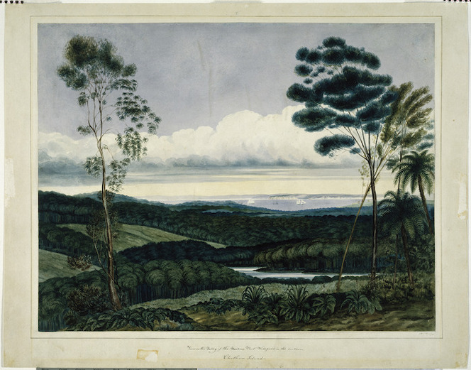 Heaphy, Charles, 1820-1881 :View in the valley of the Nairne Port Wakefield in the distance. [June, 1840]