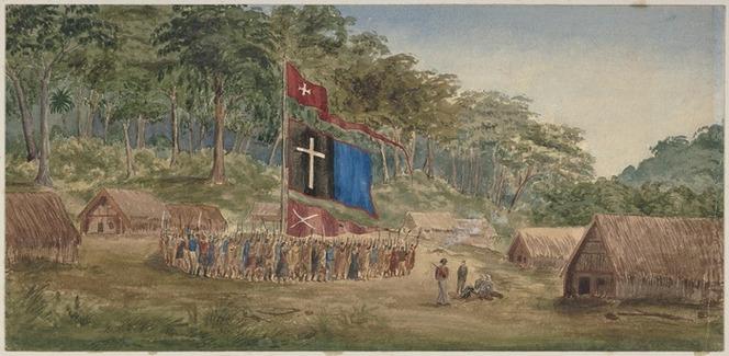 [Meade, Herbert (Lieutenant)], 1842-1868 :Pai Marire karakia, held by the Te Hau fanatics at Tataroa, New Zealand, to determine the fate of their prisoners. Jan[uar]y 27th, 1865.