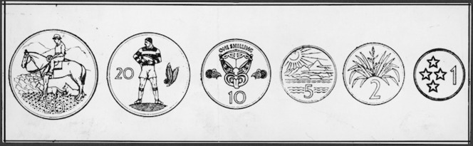 Proposed designs for New Zealand's decimal coins