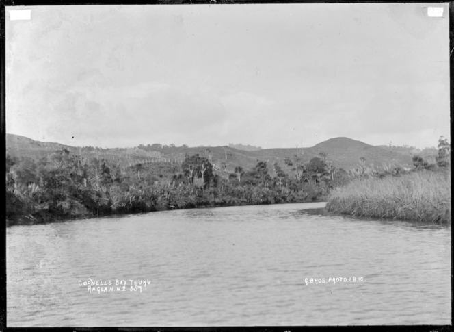 Copwells Bay, Te Uku, Raglan, 1910 - Photograph taken by Gilmour Brothers