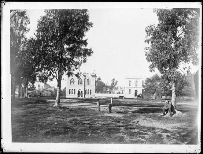 Cathedral square, Christchurch, in 1867