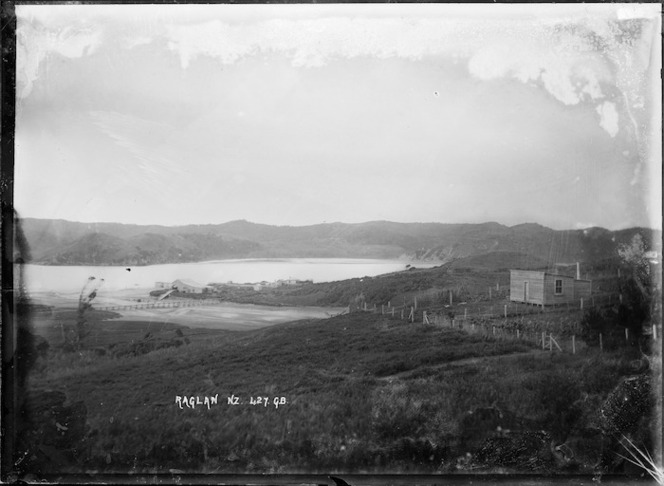 Part of Raglan Harbour, at the mouth of the Opotoru River, circa 1911 - Photograph taken by Gilmour Brothers