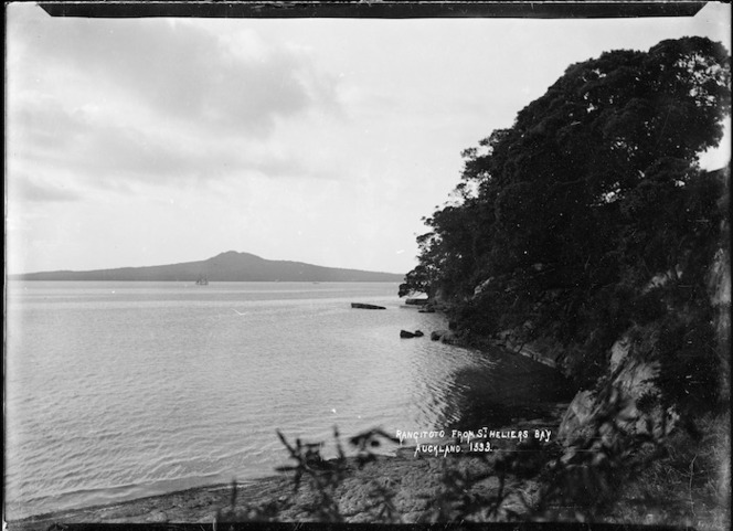 View of Rangitoto Island from St Heliers Bay, Auckland