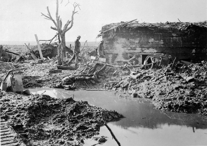 Gater Point, on the battlefield near Zonnebeke, Ypres Sector, Belgium, during World War I