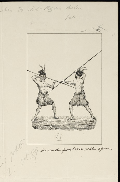 Koch, Augustus, 1834-1901 :Second position with spear. [Wellington, 1891]