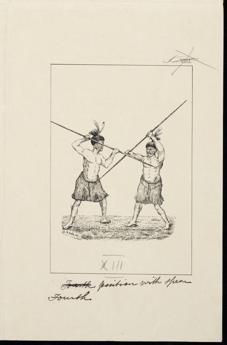 Koch, Augustus, 1834-1901 :Fourth position with spear. [Wellington, 1891]