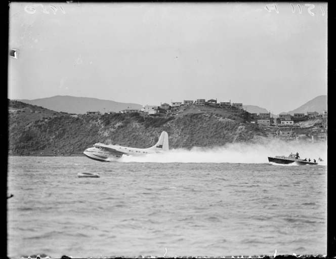 TEAL's inaugural Wellington to Sydney flight
