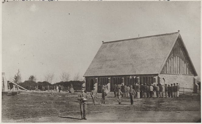 Creator unknown : Photograph of Big School, Christ's College, Christchurch