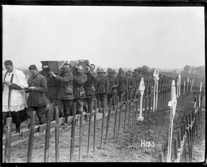 The funeral of Brigadier General Johnston killed in 1917