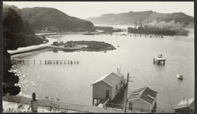 View of the TEAL reclamation, Evans Bay, Wellington