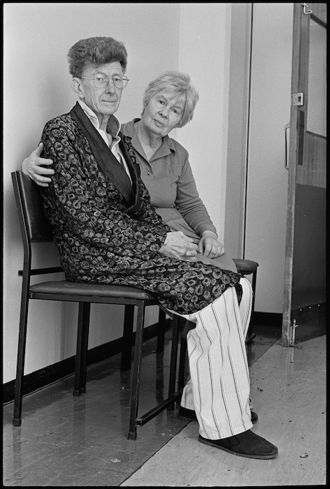 Robin McKenzie at Wellington Hospital with his wife Shirley - Photograph taken by Mark Round