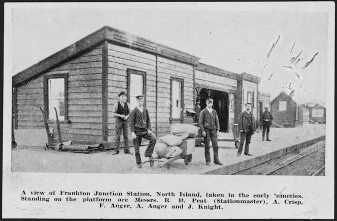 Frankton Junction Station, Waikato, and railway employees