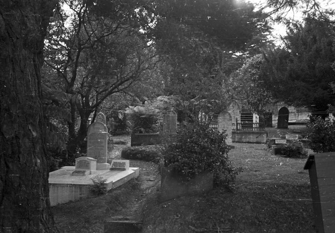 Graves, Bolton Street Cemetery, photographed in the late 1960s by the City Sexton, P J E Shotter.