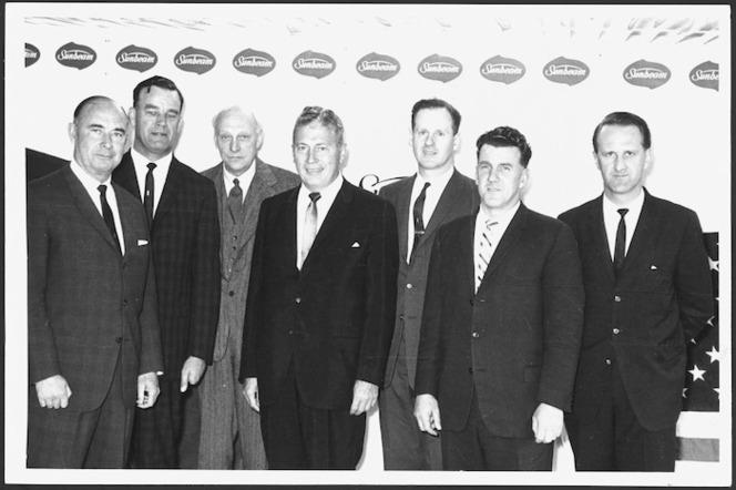 Karl Pallo with executives of Sunbeam Corporation Ltd, at Orsini's.