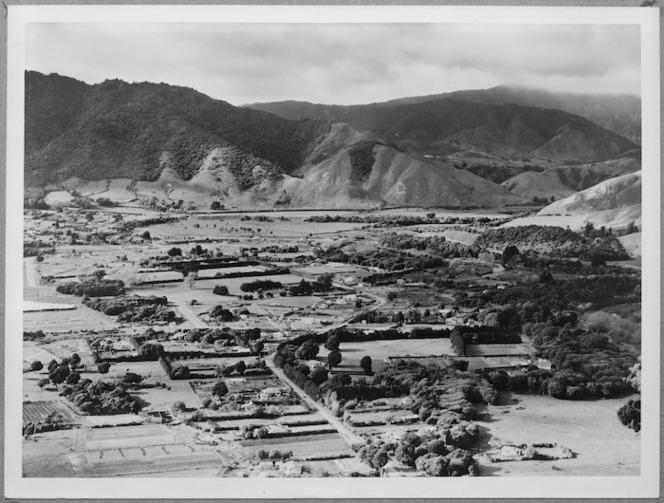 Aerial view of Waikanae looking east