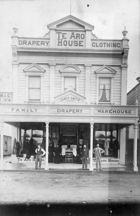 Te Aro House, Cuba Street Wellington, in the late 1870s