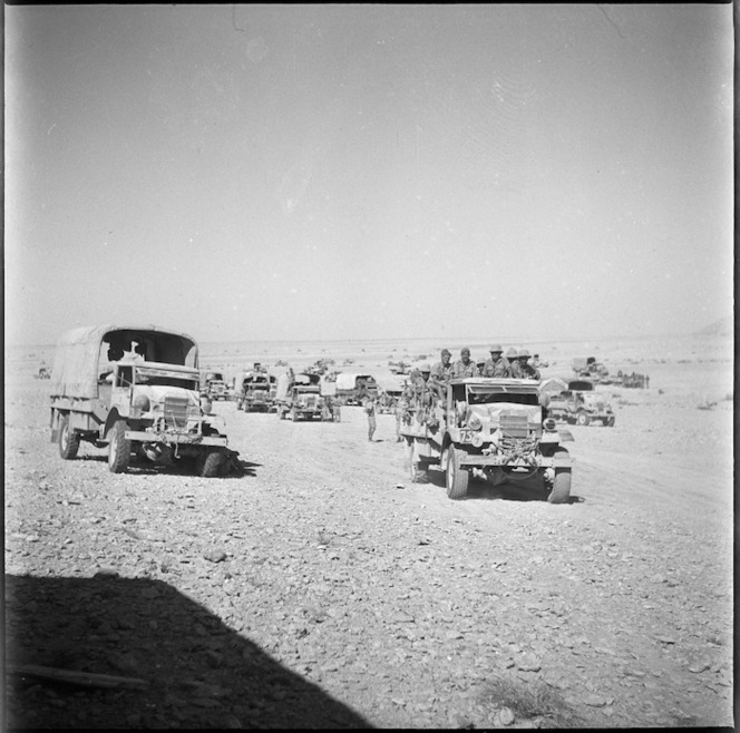 Portion of NZ transport south east of Mersa Matruh, Egypt - Photograph taken by W A Whitlock