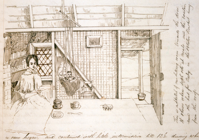 A sketch of our sitting room