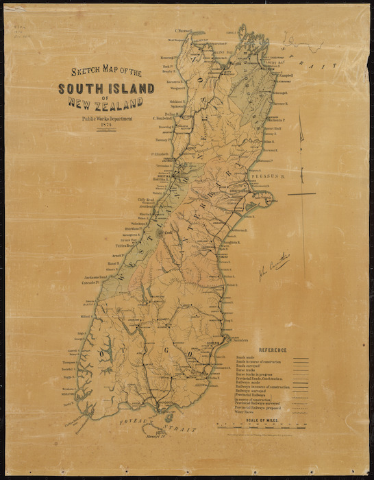 Sketch map of the North Island, New Zealand [cartographic material] ; Sketch map of the South Island, New Zealand / A. Koch, del.