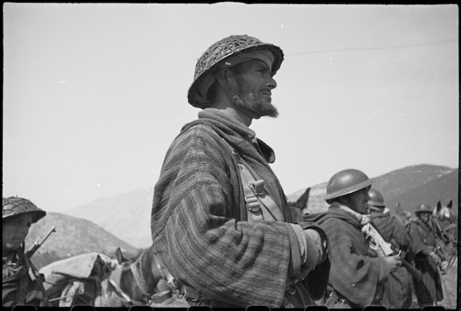 French Moroccan troops on the Cassino Front in Italy, World War II - Photograph taken by George Kaye