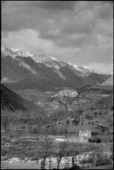 Village among the mountains in the Volturno Valley area, Italy - Photograph taken by George Kaye