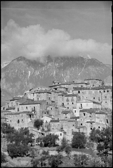 Italian village in Volturno Valley area familiar to New Zealanders in World War II - Photograph taken by George Kaye