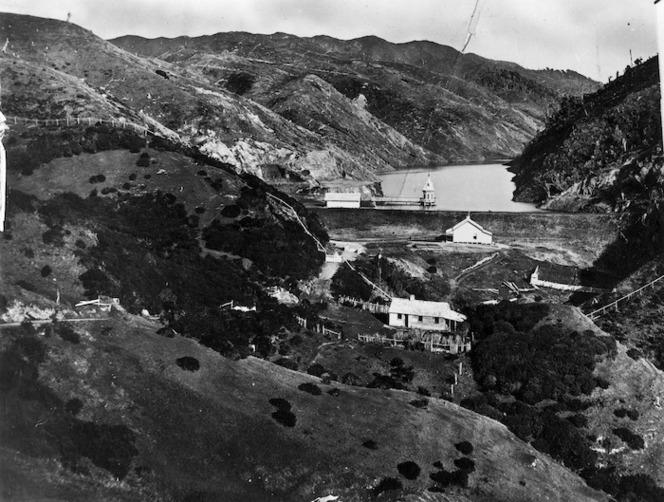 Overlooking the area around the Karori Reservoir, Wellington