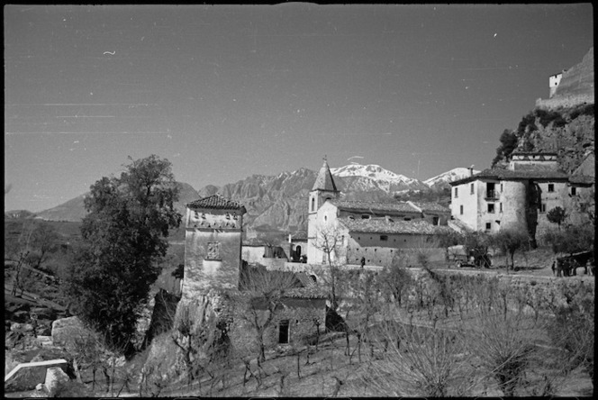 View of Cerro, a village in the Volturno Valley, Italy - Photograph taken by George Kaye