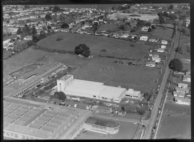 Unidentified factory, Mt Rosill, Onehunga area, Auckland