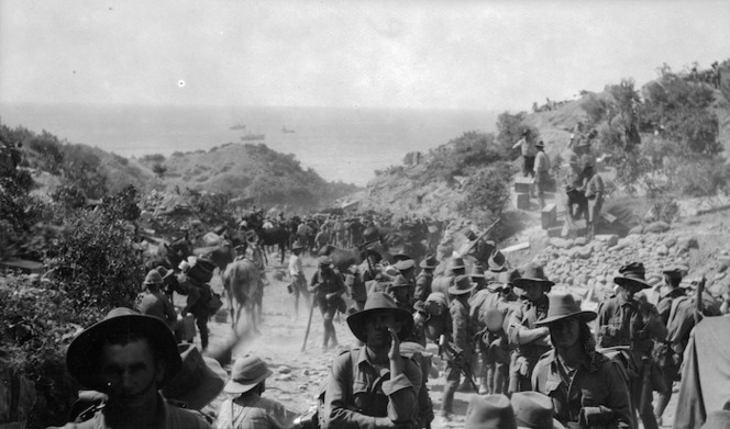 Arrival of Second Australian Division troops at Gallipoli, Turkey