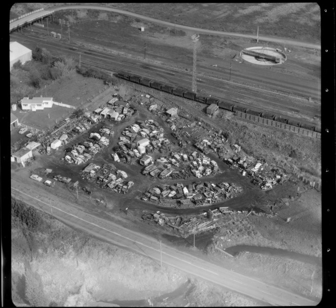 Mt Roskill/Onehunga area, Auckland, with a car/motor vehicle dump yard