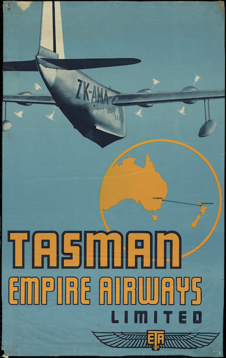 Tasman Empire Airways Ltd :Tasman Empire Airways Limited. ZK-AMA [ca 1940]