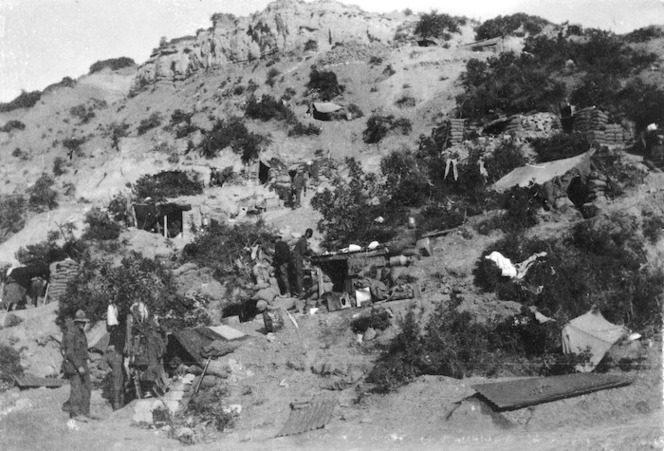 5th Squadron's bivouac area, Gallipoli, Turkey
