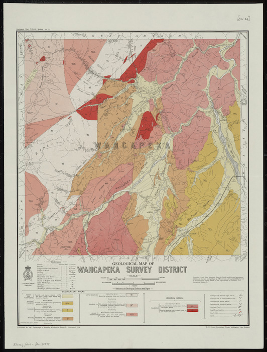 Geological map of Wangapeka survey district [cartographic material] / drawn by G.E. Harris, 1930.