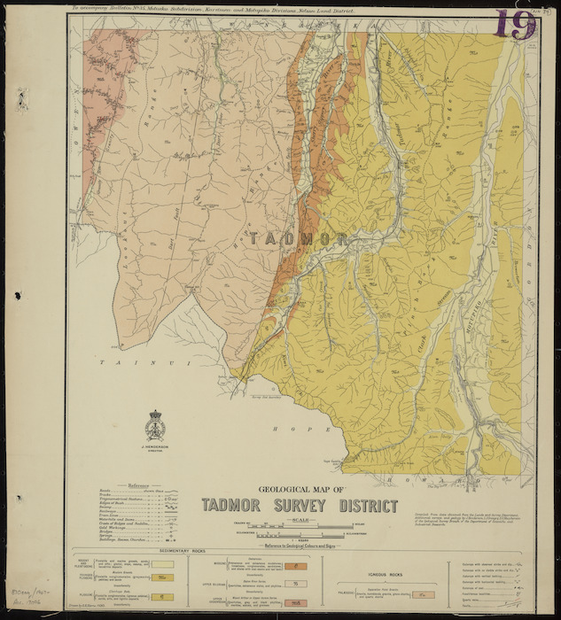 Geological map of Tadmor survey district [cartographic material] / drawn by G.E. Harris, 1930.