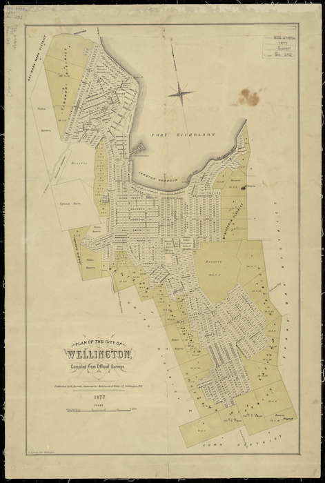 Plan of the city of Wellington, compiled from official surveys [cartographic material].