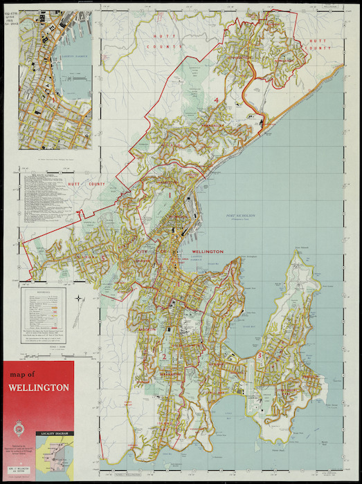 Map Wellington New Zealand.Map Of Wellington Cartographic Mater Items National Library