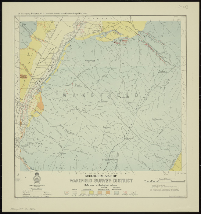 Geological map of Wakefield Survey District [cartographic material] / drawn by R.J. Crawford.