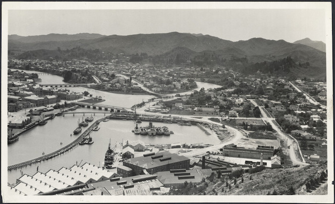 View of Gisborne and harbour - Photograph taken by Tudor W Collins