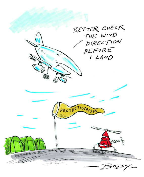 """""""Better check the wind direction before I land"""" 8 March 2008"""