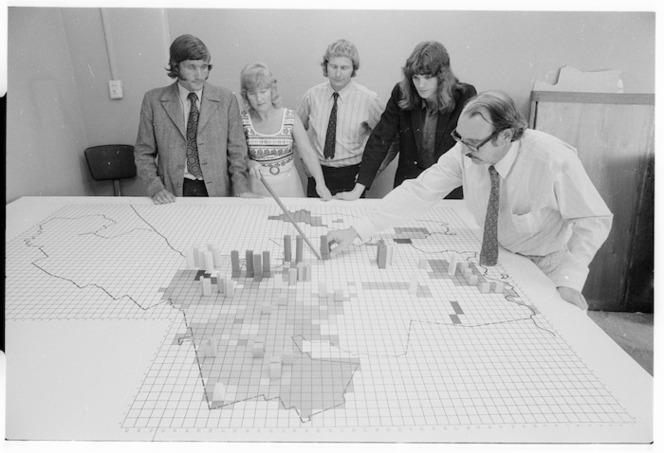Wellington City Council town planning staff playing a land development board game