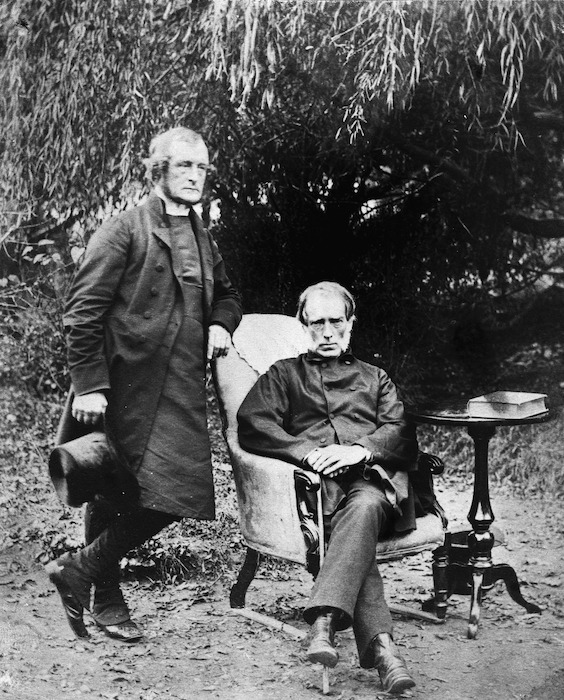 Portrait of Bishop George Augustus Selwyn and Sir William Martin - Photographed taken by Harley Webster