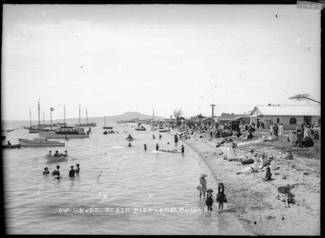 Scene at Bucklands Beach, Auckland
