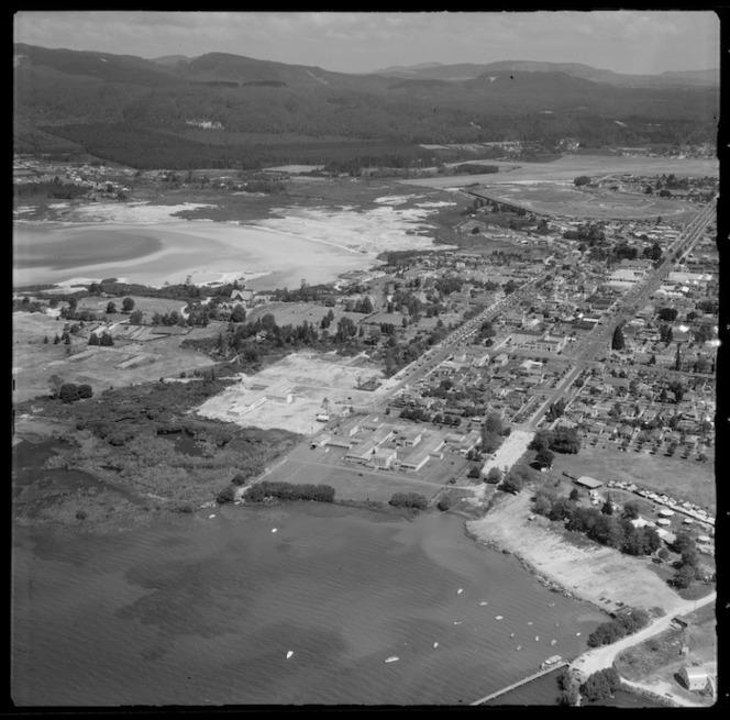 Rotorua, Lake Rotorua foreshore, and surrounding countryside