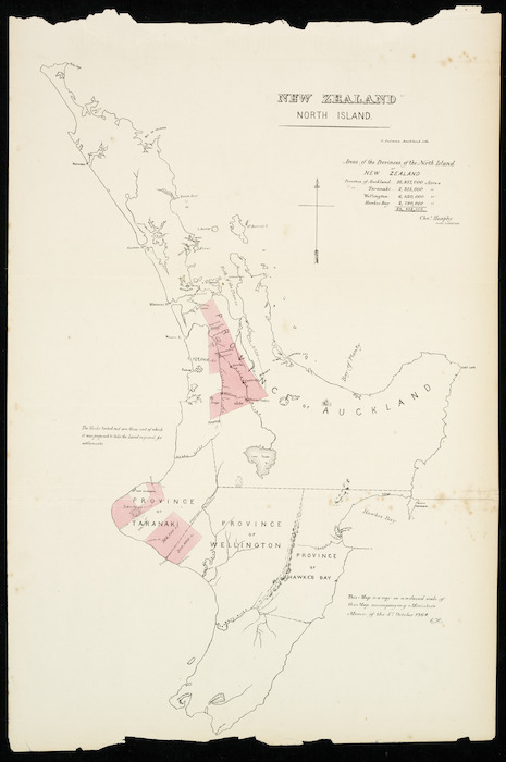 New Zealand Provinces Map.Areas Of The Provinces Of The North I Items National Library