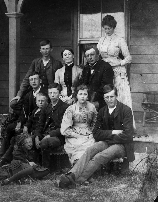 Mary and William Rolleston and their children, at Kapunatiki